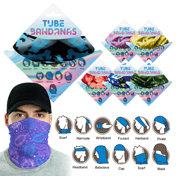 Tube Bandana - Assorted styles, 12-24 colors