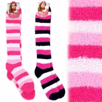 Cozy Socks Long Striped Size 9-11
