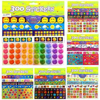 300 Pc Sticker Collections 6 Assorted Styles