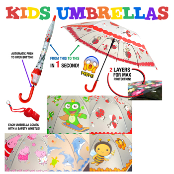 Kids Umbrella Assorted Designs