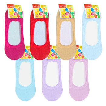 Footies sock's 6 assorted colors