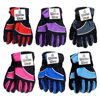 Kid's Ski Gloves. 5 assorted colors