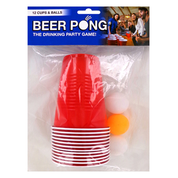 Beer Pong Set. 12 cups & 6 balls