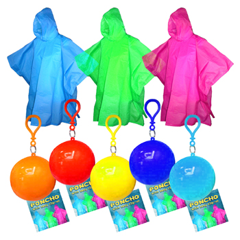 Rain Poncho with Clip on Holder Case