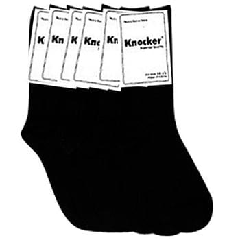 1 Pair Rider Pack Black Crew Socks