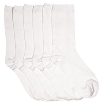 1 Pair Rider Pack White Crew Socks