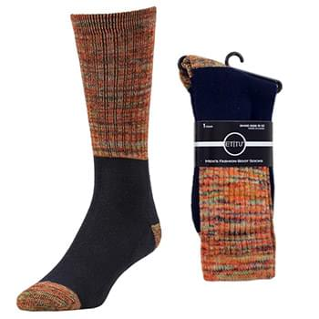 Single Pair Orange Boot Socks 10-13
