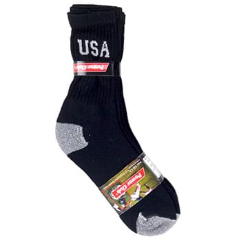 Size 10-13 Mens USA Crew Socks 4 Pack