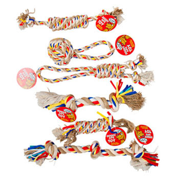 Dog Toy Rope Chews - 6 assorted styles